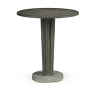 "Jonathan Charles Home 36"" Round Grey Bar Table with A Terrazzo Base 550036-36D-BT"