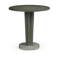 "Jonathan Charles Home 36"" Round Grey Counter Table with A Terrazzo Base 550036-36D-CT"