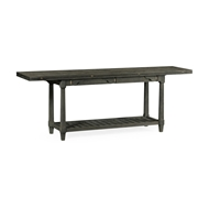 Jonathan Charles Home Rectangular Grey & Antique Brass Hunt Table 550039-86L
