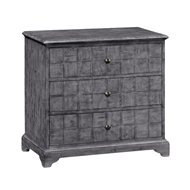 Jonathan Charles Home Antique Dark Grey Small Chest of Drawers 491013