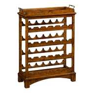 Jonathan Charles Home Four-Tier Wine Shelf in Rustic Grey 491098