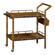 Jonathan Charles Home Country Walnut Bar Cart 491164