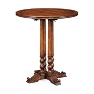 "Jonathan Charles Home 36"" Round Walnut Planked Bar Table 492435-36D-BT"