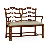 Jonathan Charles Home Chippendale Style Double Bench with Pierced Back 492565