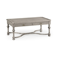 Jonathan Charles Home Chip Carved Dark Oak Rectangular Coffee Table 493129