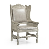 Jonathan Charles Home Jacobean Style Natural Oak Wing Chair 493175