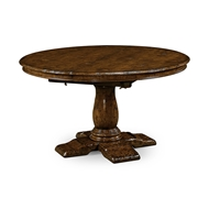 "Jonathan Charles Home 54"" Extending Dark Oak Country Table 493457-54D"