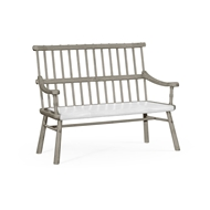 Jonathan Charles Home Rustic Dark Oak Country Bench 493538