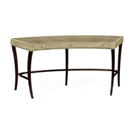 Jonathan Charles Home Art Deco Curved Desk with Drawers