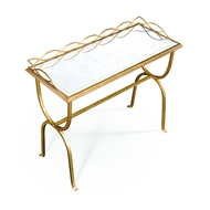 Jonathan Charles Home Eglomise & Bronze Iron Drinks Table 494103