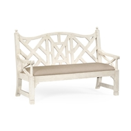 Jonathan Charles Home White Painted Lattice Work Bench 494133