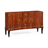 Jonathan Charles Home Art Deco High Lustre Curved Sideboard 494326