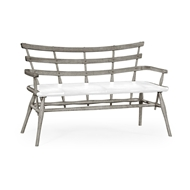 Jonathan Charles Home Oak Bench with Studded Leather Seat 494332
