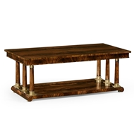 Jonathan Charles Home Mahogany Biedermeier Style Rectangular Coffee Table 494798