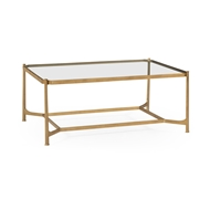 Jonathan Charles Home Distressed Bronze Rectangular Coffee Table 494922