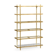 Jonathan Charles Home Distressed Bronze Six Tier Etagere 494923