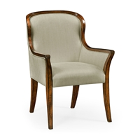 Jonathan Charles Home Low Curved Back Upholstered Dining Armchair