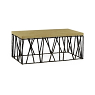 Jonathan Charles Home Hammered Light Brown Brass Coffee Table with Celadon Top 495086