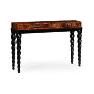 Jonathan Charles Home Black Barleytwist Console Table with Drawers 495191