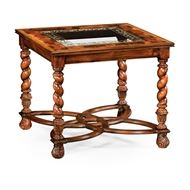 "Jonathan Charles Home Oyster & Eglomise Side Table (24"") 495244-24L"