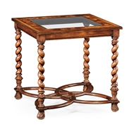 "Jonathan Charles Home Oyster & Eglomise Side Table (26"") 495244-26L"