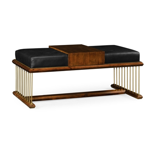 Excellent Jonathan Charles Home Camden Walnut Cocktail Ottoman With Tray Upholstered In Com Cjindustries Chair Design For Home Cjindustriesco