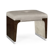 Jonathan Charles Home Black Eucalyptus Dressing Stool, Upholstered in COM 495550