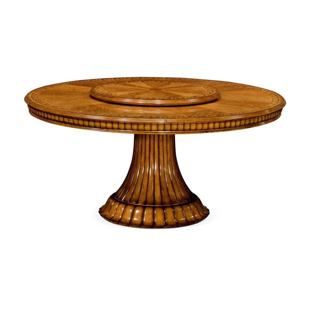 Jonathan Charles Home Gilded Round Dining Table With Lazy Susan