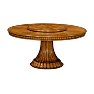 Jonathan Charles Home Gilded Round Dining Table with Lazy Susan 495735