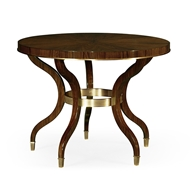 Jonathan Charles Home Round Dark Santos & Brass Centre Table 495914-SAD