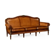Jonathan Charles Home Burl And Mother of Pearl Inlaid Sofa Three Seater in COM 499429