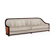 "Jonathan Charles Home 110"" Sofa in Sonokelling & Rattan, Upholstered in COM 500078-110L"
