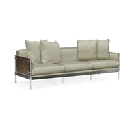 Jonathan Charles Home Campaign Sofa Three Seat 500247-87L