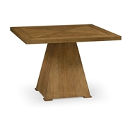 Jonathan Charles Home Square Brushed Medium Brown Oak End Table 540074