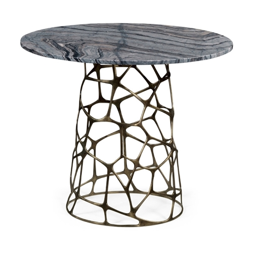 Marble Top Brass Coffee Table.Jonathan Charles Home Round Geometic Brass Coffee Table With A Grey Marble Top