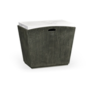 Jonathan Charles Home Rectangular Grey & Faux White Marble Storage End Table 550030