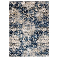 Loloi Torrance Area Rug - Navy & Ivory Rug - 100% Microfiber Polyester