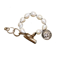 Love Tokens Jewelry Baroque Pearl Toggle Bracelet