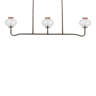 Lowcountry Originals 3 Light Gas Replica Chandelier