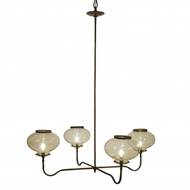 Lowcountry Originals 4 Light Gas Replica Chandelier