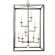 Lowcountry Originals Box Hart with Staggered Brass Cluster ChandelierLCO-183