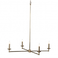 Lowcountry Originals Brass 4 Light Chandelier