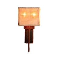 Lowcountry Originals Burlap Sconce