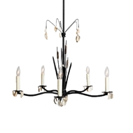 Lowcountry Originals Cat Tail with Shell Chandelier