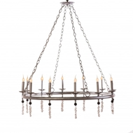 Lowcountry Originals Circular Tubing with 12 Candelabras Chandelier
