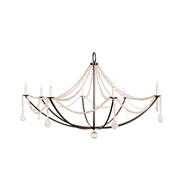 Lowcountry Originals Crystal Nugget Drape Chandelier LCO-192
