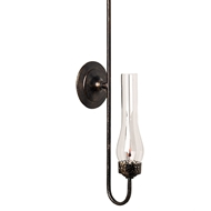 Lowcountry Originals Dark Copper on Steel Gas Replica Sconce