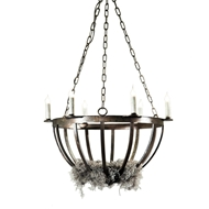 Lowcountry Originals Darkened Bronze Garden Basket Chandelier