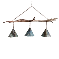 Lowcountry Originals Driftwood 3 Light Chandelier