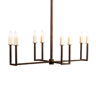 Lowcountry Originals Elongated U Arm Chandelier